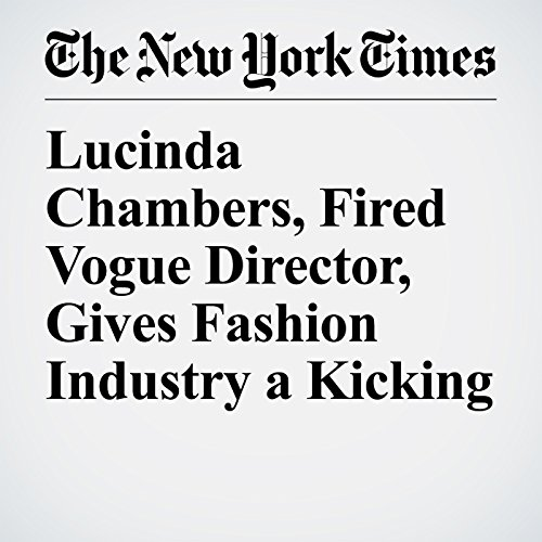 Lucinda Chambers, Fired Vogue Director, Gives Fashion Industry a Kicking audiobook cover art