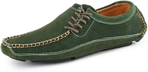 Herren Freizeitschuhe Atmungsaktive SegelStiefel Einzelschuhe Wildleder Flache Schuhe Erbsenschuhe