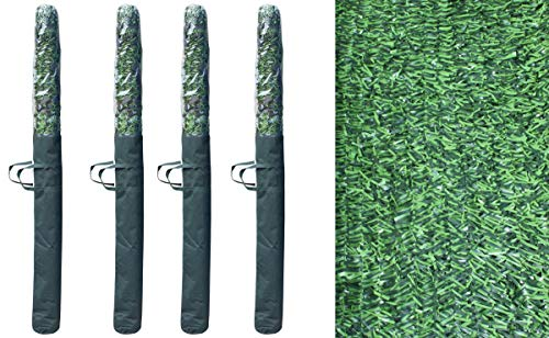 Pal Ferretería Industrial Rollo de seto Artificial ignífugo Verde de ocultación 3x1.5m (4- Rollos seto 3x1.5)