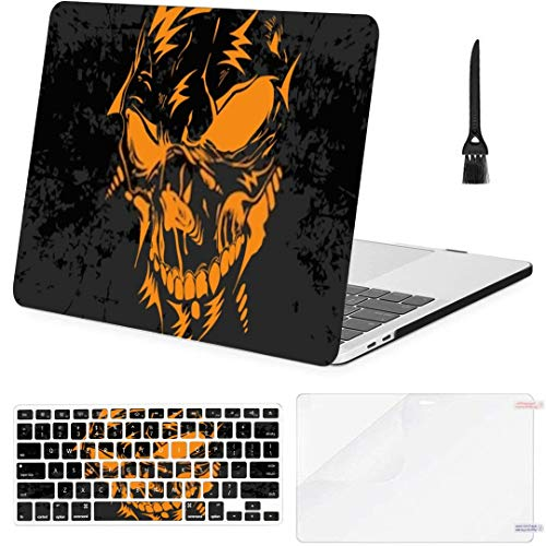 MacBook Air 13 Inch Case Horrible Skull Illustration Scary Dangerous Motive MacBook Air11 Case MacBook Pro13 Pro15 Plastic Case Keyboard Cover; Screen Protector; Keyboard Cleaning Brushush