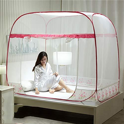 AIMCAE Tenda a zanzariera a Scomparsa Pieghevole Anti-zanzara a Forma di copriletto per Adulti,B,180×200cm