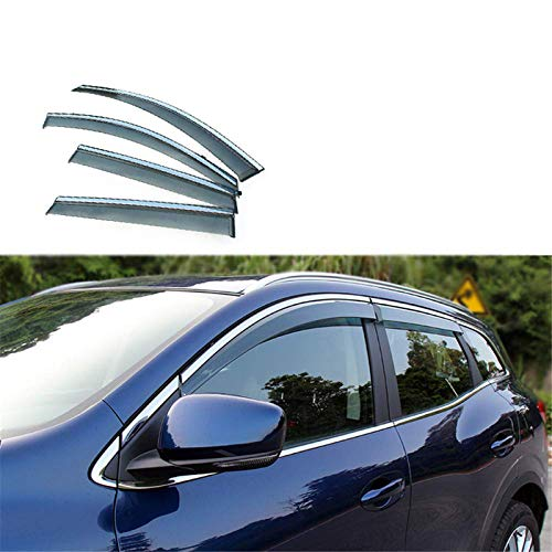 HCDSWSN Windabweiser,4 stücke ABS Auto Rauch Fenster Sonne Regen Visier Deflector Guard, Für Renault Kadjar 2016 2017 2018 Styling Zubehör