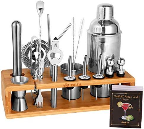DIJA 23pcs Bartender Kit Bar Set Cocktail Shaker Set for Drink Mixing Stainless Steel Bar Tools product image