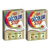 Décolor Stop Action Complète Eco–Protection – 50 Lingettes Anti–Décoloration (Lot de 2 x 25 lingettes)