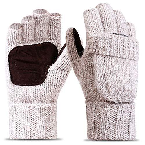 ECOMBOS Touchscreen Handschuhe Frauen - Winter Warme Handschuhe Dickes Fleecefutter Elegante Handschuhe Weihnachts Geschenke Für Frauen Mädchen,Einheitsgröße,Beige