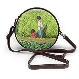 Spirited Away Lindo Little Girl Messenger Wallet solo hombro señoras moda redondo cremallera verano diseño estudiante