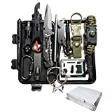 SUWIKEKE Survival Kit, Upgraded 14 in 1 Survival Gear Tool, Professional Camping Gear for Hiking Climbing Travelling Wilderness Adventures