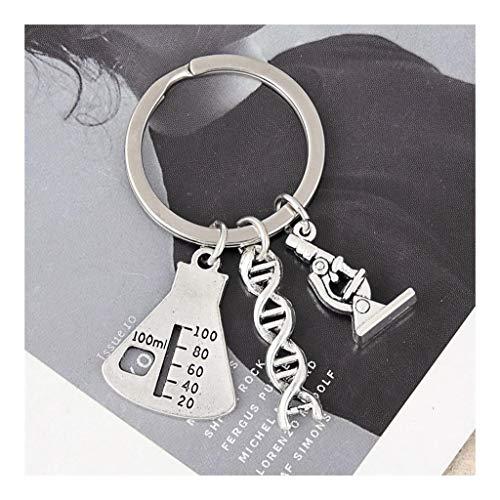 TangMengYun Schlüsselanhänger 1Pc Doktor Molekulare DNA-Mikroskop Schlüsselanhänger Wissenschaft Mikroskop Ausrüstung Schlüsselanhänger for Medizin Schule Geschenk Schmuck Schlüsselring