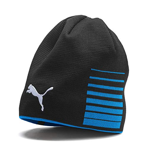 PUMA Erwachsene Liga Reversible Beanie Mütze, Electric Blue Lemonade Black, OSFA