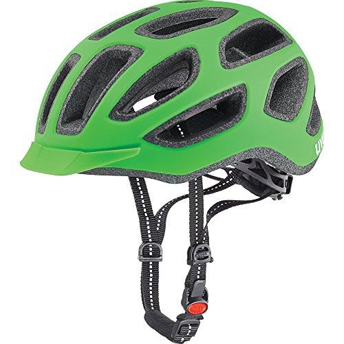 Uvex Fahrradhelm City E, Neon Green Mat, 57-61 cm