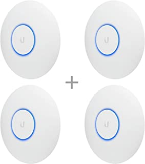 Ubiquiti Networks UAP-AC-PRO-US Unifi 802.11ac Dual-Radio PRO Access Point (4 Items)