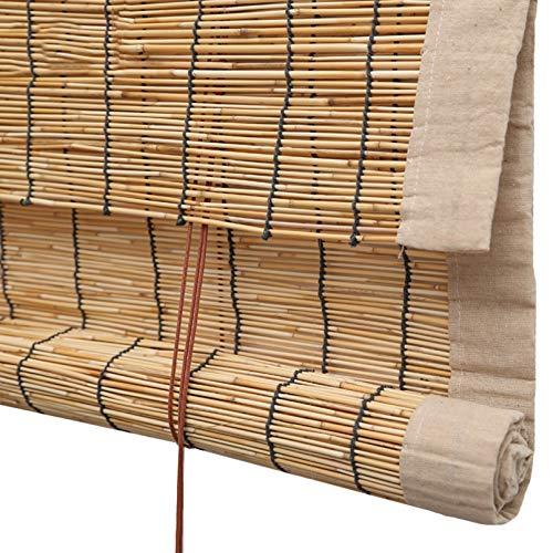 ADASP persiana Enrollable Persiana Bambu Exterior Filtro De Luz Levantamiento,Baño Patio Decoración De Ventanas jardín persianas Enrollables Personalizables
