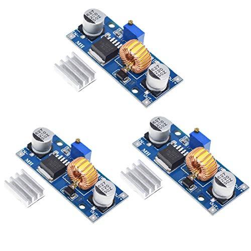HiLetgo 3個セット 5A DC-DCステップダウン調整可能電源モジュール降圧コンバータ 4~38V 電源アウトプット1.25-36V [並行輸入品]