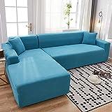 B/H Lavable/Antiácaros Funda de sofá,Funda de sofá elástica Universal, Funda de sofá Minimalista Moderna-B_190-230cm,Sillón Elastano Fundas de Sofá