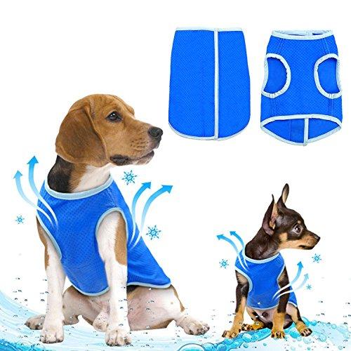 Ranphy 犬服 夏 ひんやり シャツ 冷却ベストひんやりタンクトップ 冷感涼感 ベスト 冷やす 涼しい クール シャツ ベスト 小型犬 中型犬 日焼き防ぐ 熱中症対策 暑さ対策 お散歩 お出かけ 訓練 ペット服 夏服 M
