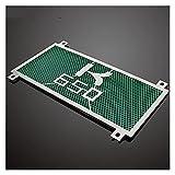 Red de protección del radiador Accesorios de Motocicleta Scooter de Acero Inoxidable autocycle radiador Rejilla Cubierta Protectora Protector de Parrilla para Kawasaki Z650 2017 (Color : Green)