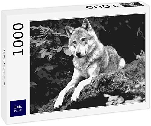 Lais Puzzle Lobo Negro Blanco 1000 Piezas