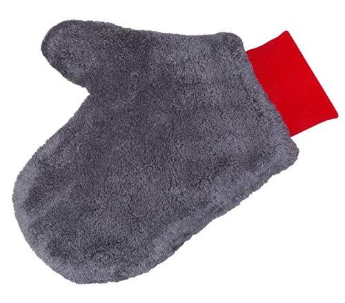Glart Mikrofaser Alu Felgen Reiniger-Handschuh für Auto Autopflege Motorrad Fahrrad, 27x12 cm, ohne Bürste für Alufelgen