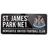 Newcastle United FC - Placa metálica decorativa oficial de Newcastle United FC (Talla Única/Negro)