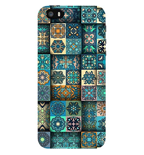 TRUEMAGNET Premium '' Amazing 3D Flower Mandala Tiles '' Printed Hard Mobile Back Cover for Apple iPhone 5 /Apple iPhone 5S /Apple iPhone SE (2016), Designer & Attractive Case for Your Smartphone