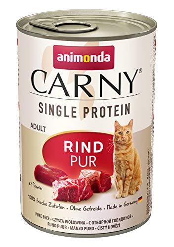 animonda Carny Single Protein adult Katzenfutter, Nassfutter für ausgewachsene Katzen, Rind Pur, 6 x 400 g