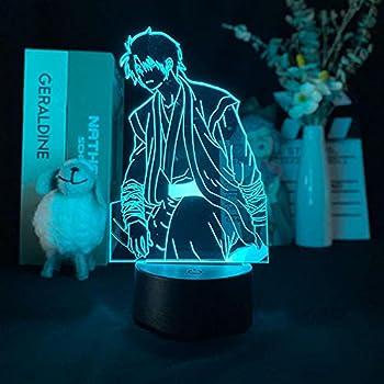 3D Night Light Illusion Anime Yona Van De Dageraad Hak Figure Night Light Gift for Kids Home Bedroom Decor Led Manga Figurine Table Lamp-Touch
