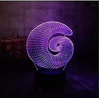 3D錯視ギフト3D錯覚ランプ7色大人、子供 抽象庭園部屋の装飾テーブルランプ