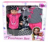 LISSI DOLLS 94888 - Puppe im Set mit Extra-Kleidung und Accessoires, Circa 46 cm