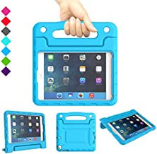 A ADENK Kids Case for iPad Mini 1 2 3 4 5 Generation 7.9 inch- Lightweight Shockproof Convertible Protection Cover with Built-in Handle Stand Tablet - 2019 Retina Display (Blue)