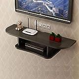 WiFi Gabinete Set-Top Box Router estante de la pared de montaje en pared Medios plataforma flotante for TV, estante de la consola multimedia cajas de cable mandos a distancia de DVD Consolas