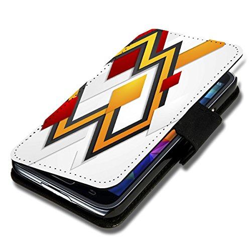 wicostar Book Style Flip Handy Tasche Hülle Schutz Hülle Schale Motiv Etui für Wiko Rainbow Jam - Flip 1A49 Design3