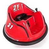 Auto de Choques - Autogiro eléctrico - Rojo- Coche eléctrico para niños con batería y Mando Control Remoto Padres