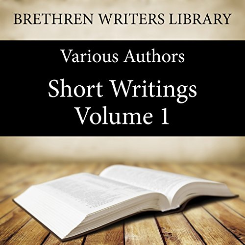 Couverture de Short Writings, Volume 1