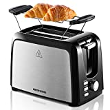 REDMOND 2 Slice Toaster Black Toasters with Pop Up Reheat Defrost Functions Toaster 2 Slice Best Rated Prime