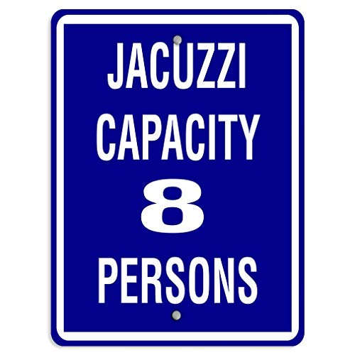 Bedroom Street Chic Art Retro Metal Office Warning 16x12,Jacuzzi Capacity 8 Persons,Retro Art Iron Painting Metal Warning Plaque Decor for Home Yard Store Bar Coffee House