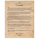 Vintage Max Ehrmann Desiderata Quote Poster Prints, Set of 1 (11x14) Unframed Photo, Wall Art Decor Gifts Under 15 for Home, Office, Garage, Man Cave, School, College Student, Teacher, Coach, Fan