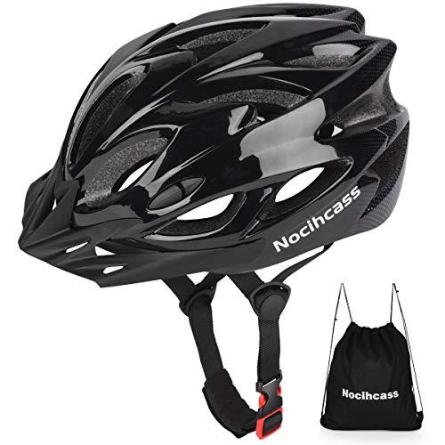 Casco de bicicleta, casco de bicicleta con parasol para adultos, jóvenes, hombres y mujeres, para BMX, monopatín, MTB, Mountain Road Bike (se adapta a tamaños de cabeza de 57 – 62 cm)
