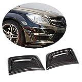 MCARCAR KIT Carbon Fiber Front Bumper Vent fits Mercedes Benz C Class W204 C63 AMG Sedan 2012-2014 Factory Outlet CF Air Fender Cover Exterior Side Scoops Spoiler Protector Splitter
