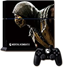 CloudSmart PVC Protection Decal Skin Cover Case Sticker For PS4 Playstation 4 Console x1 and Controllers x2 - MORTAL KOMBAT X