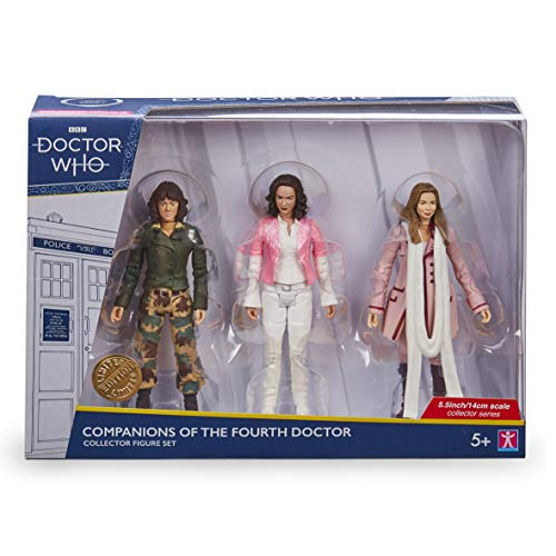 Doctor Who Companions of The 4th Dr Set – Doctor Who Merchandise – Incluye figuras de acción Sarah Jane Smith y Romona – Coleccionables Dr Who Companions – Opciones de personaje – 5.5 pulgadas