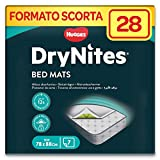 Huggies DryNites Disposable Bed Mats, Mattress Protector (4 Packs of 7, 28 Mats Total)