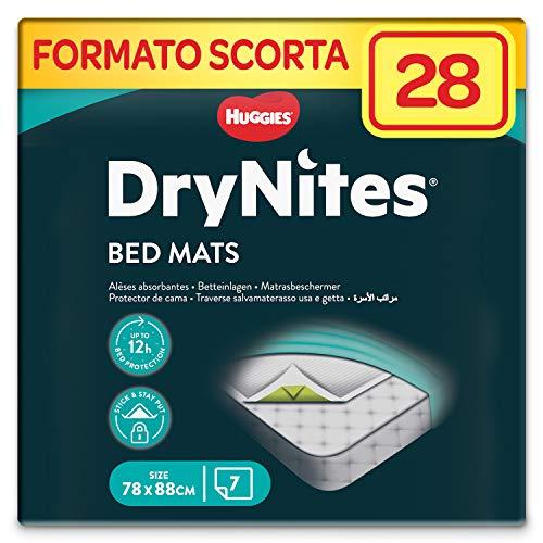 DryNites Bed Mats, Traversine letto Assorbenti, 4 Confezioni da 7 Traverse (28 totali)