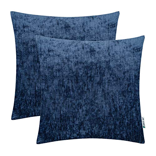 HWY Dark Navy Blue Decorative Throw Pillows