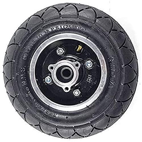 Neumáticos sólidos para Scooter eléctrico eléctrico 200x50 con Cubo de Rueda Rueda neumática de aleación de Aluminio para vehículo eléctrico de inflado de Scooter de 8'