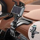 Supporto per Telefono per Auto,Supporto Multifunzione per Cruscotto Auto Specchietto Retrovisore con Clip a Molla Regolabile a 360°, Adatto per Smartphone da 3 a 7 Pollici