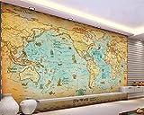 Papel pintado mural adhesivo de pared Papel tapiz personalizado decoración del hogar papel tapiz 3d vela antigua mapa del mundo decoración fondo 3 d papel tapiz para paredes
