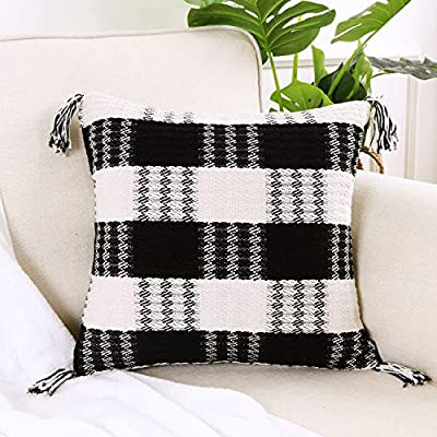 Amazon - Save 80%: Ailsan Fall Buffalo Check Plaid Pillow Cover 18 x 18 Inch Farmhouse Retro Blac…