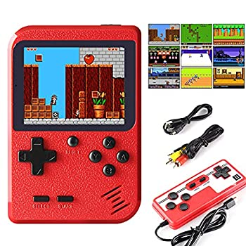 JAMSWALL Retro Handheld Game Console Portable Retro Video Game Console with 400 Classical FC Games 2.8-Inch Screen 800mAh Rechargeable Battery Support for Connecting TV and Two Players Red
