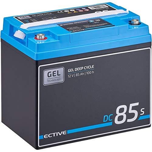 ECTIVE 85Ah 12V GEL Versorgungsbatterie DC 85s mit LCD-Display Solar-Batterie mit integrierten Nachfüllpacks
