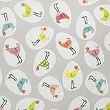 (Rectangle Rectangle 140 x 200cm / 55' x 80' long) - Grey Multi Funky Chickens PVC VInyl Wipe Clean Tablecloth 140cm (55') x 200cm (79') Long